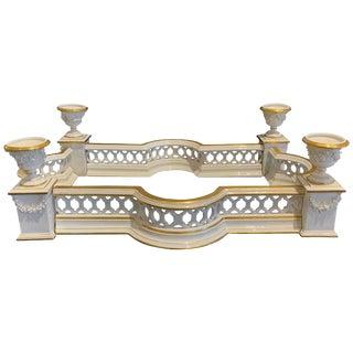 Louis Vxi Style Gilt Porcelain Surtout De Table by Vista Alegre For Sale