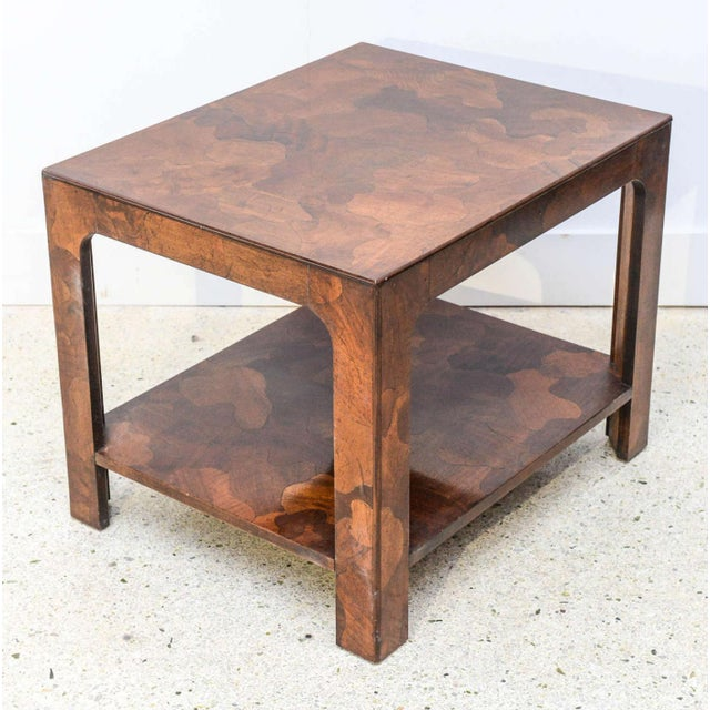 American of Martinsville American Modern Inlaid Mixed Wood Table, American of Martinsville For Sale - Image 4 of 9