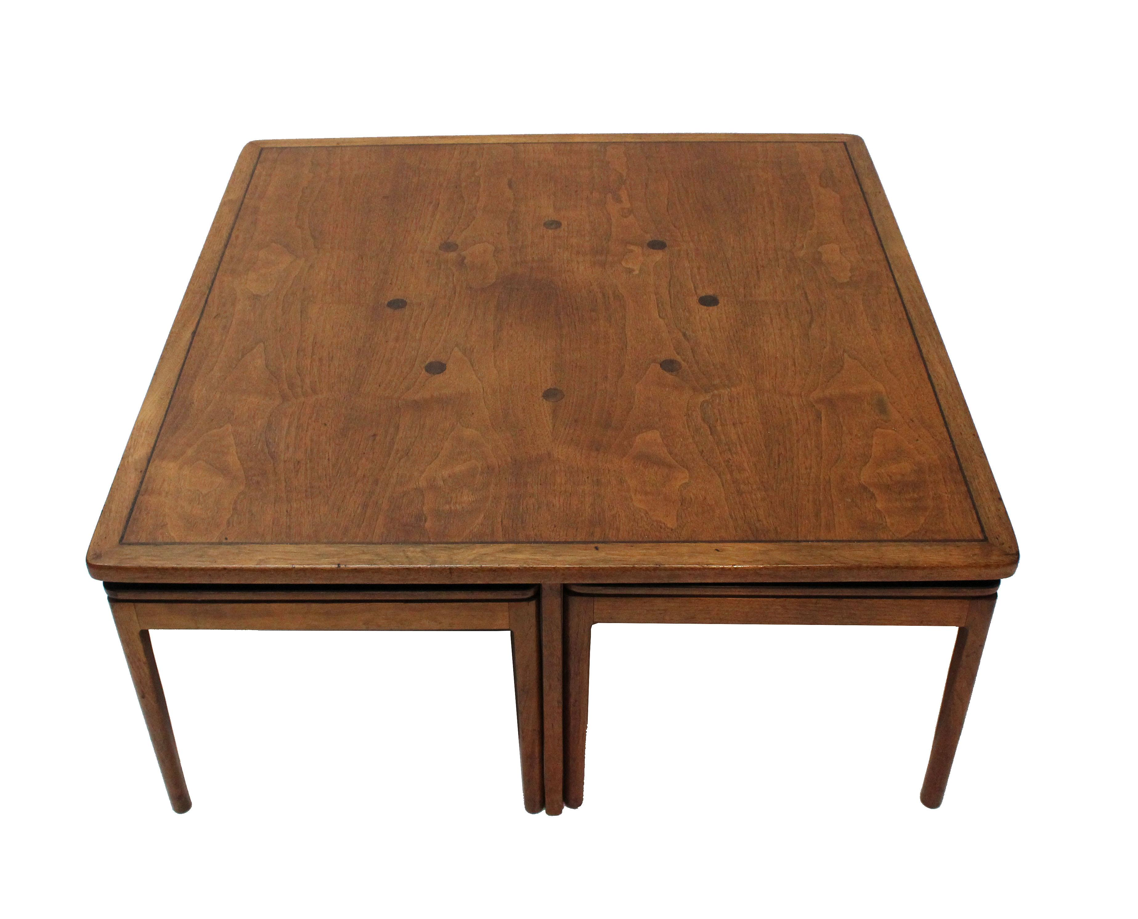 Kipp Stewart Drexel Declaration Coffee Table/Cocktail Table U0026 4 Ottomans    Image 2 Of
