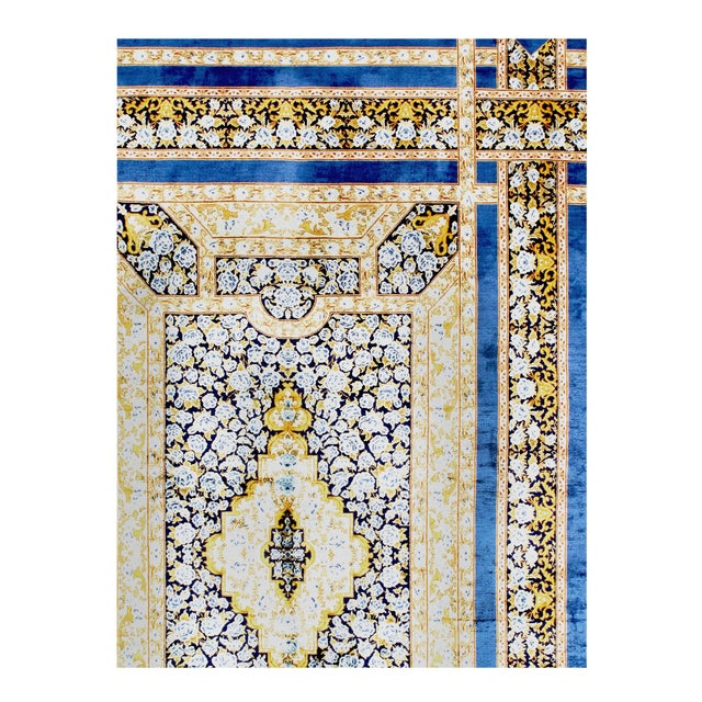 Art Deco Pasargad Herekeh Qum Design Silk Rug- 4' X 6' For Sale - Image 3 of 4