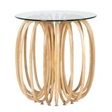 Image of Boho Chic David Francis Furniture Spring End Table For Sale