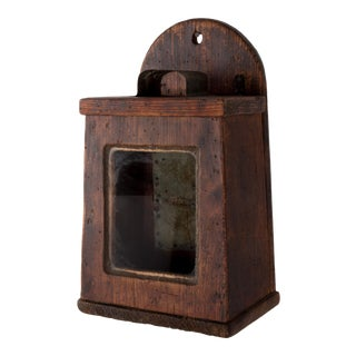 19th Century Primitive New England Sconce For Sale