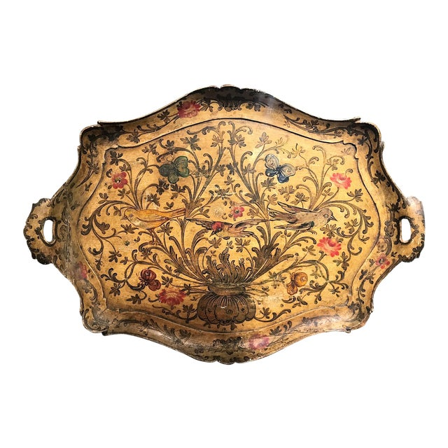 1920s Venetian Hand-Painted Serving Tray - Image 1 of 4