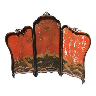 Victorian Art Nouveau 3-Panel Screen For Sale