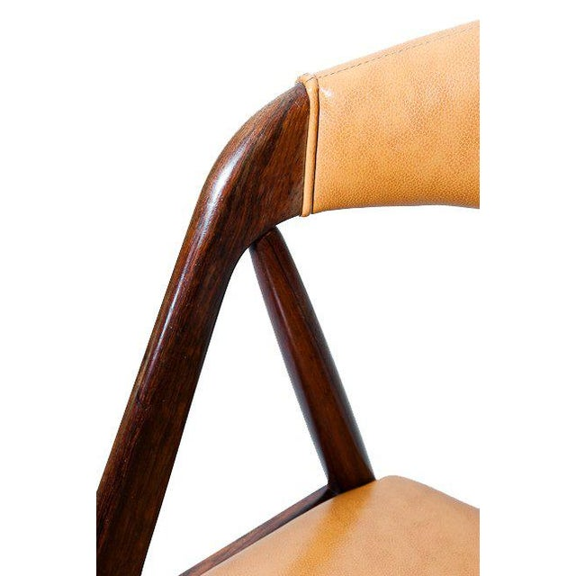 Set of Six Rosewood Kai Kristiansen Chairs For Sale - Image 9 of 9