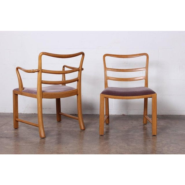 Set of Eight Dining Chairs by Edward Wormley for Dunbar For Sale - Image 9 of 10