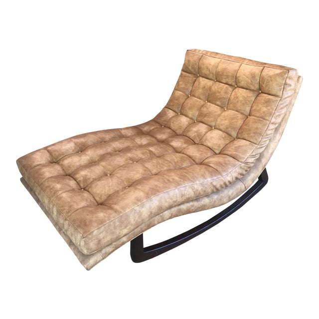 Adrian pearsall tufted rocking chaise chairish for Adrian pearsall rocking chaise