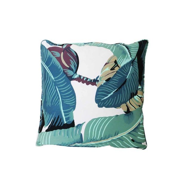 "Beverly Hills Hotel ""Martinique Banana Leaf"" Throw Pillow - Image 2 of 2"