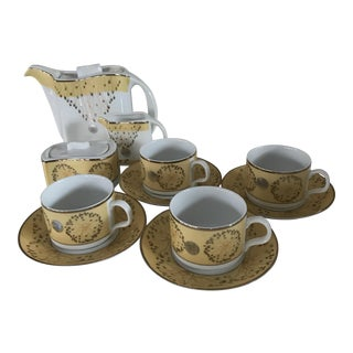Fine Bone China Tea Set - Set of 11