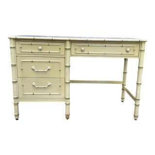 Faux Bamboo Desk by Thomasville For Sale