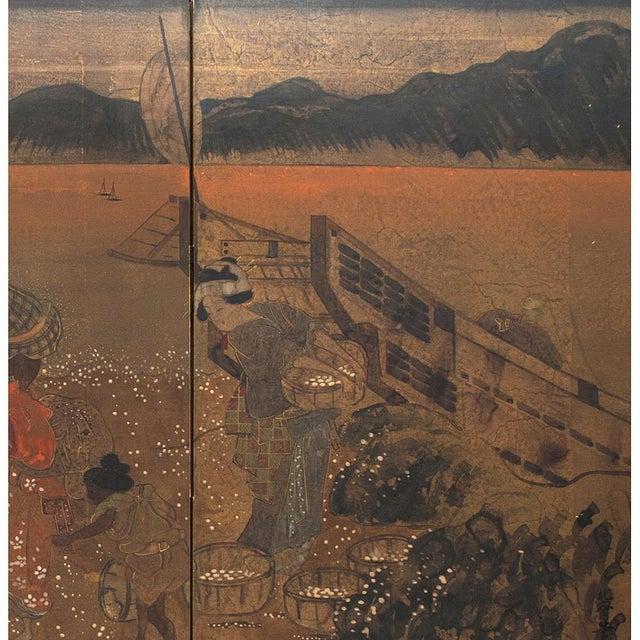 1880 Japanese Byobu Screen For Sale In Dallas - Image 6 of 12