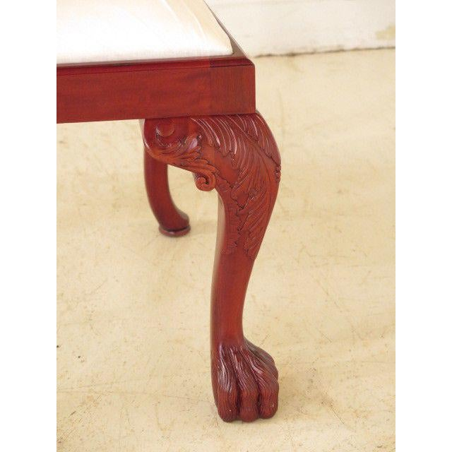 21st Century Georgian Mahogany Dining or Occasional Side Chairs- A Pair For Sale - Image 9 of 10