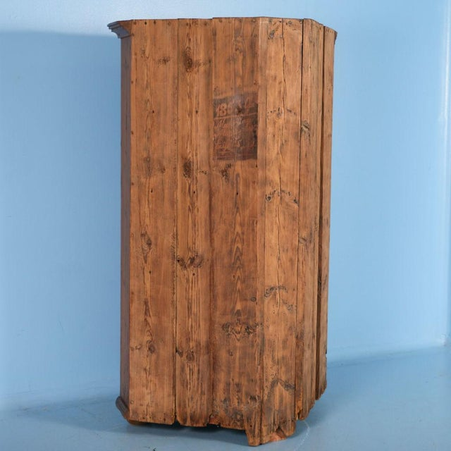 Brown 19th Century Antique Swedish Pine Corner Cabinet For Sale - Image 8 of 10