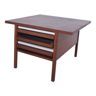 Walnut Coffee Table W/ Nesting Side Tables by John Keal for Brown Saltman 1960s For Sale