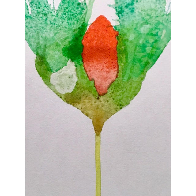 October Botanical Watercolor Painting - Image 2 of 2