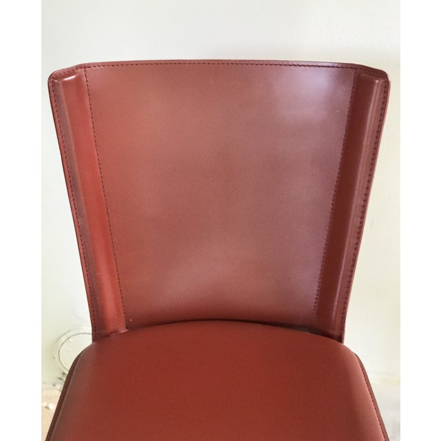 """Metal DWR Red """"Bottega"""" Side Chairs - Set of 4 For Sale - Image 7 of 8"""