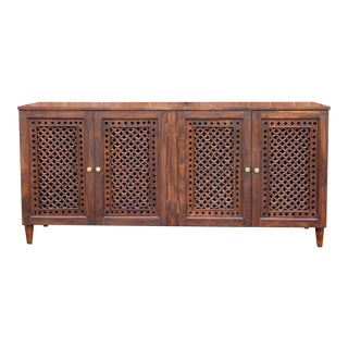 Mehrangarh Geometric Jali Sideboard For Sale