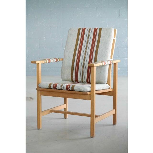 Mid-Century Modern Børge Mogensen Model 2257 1960s Oak Lounge Chair for Fredericia Stolefabrik For Sale - Image 3 of 12