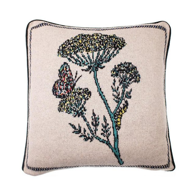 Contemporary Fee Greening - Botanical Cashmere Pillow For Sale - Image 3 of 3