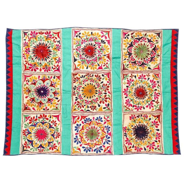 Large Vintage Dowry Textile, Gujarat India - Image 1 of 5