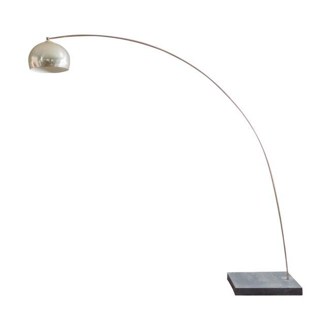 Vintage Brass Arc Floor Lamp | Chairish