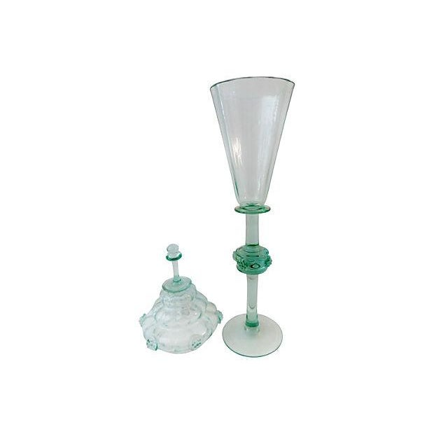 Bohemian Cabinet Glass Goblet & Cover - Image 5 of 5