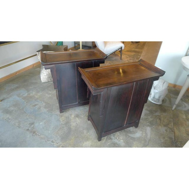 Pair of Wood Chinese Side Cabinets - Image 4 of 9