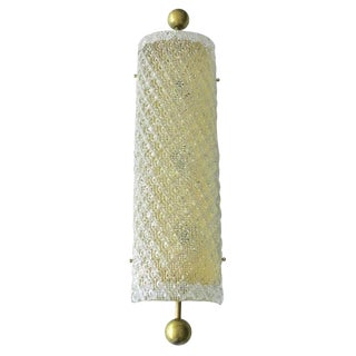 Clear Murano Diamante Glass on a Brass Frame Sconces by Fabio Ltd - 4 Available For Sale