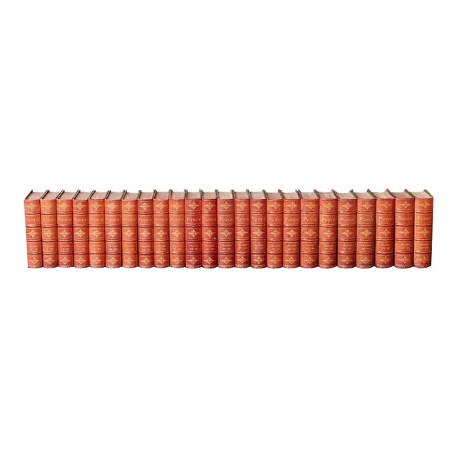 Set of 24 Leather Bound Volumes of Punch No 5-100 from the Estate of José Ferrer For Sale