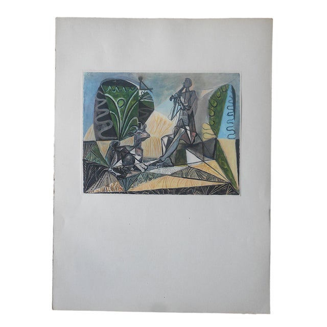Vintage Abstract Mid-Century Picasso Lithograph-From Verve Art Journal For Sale