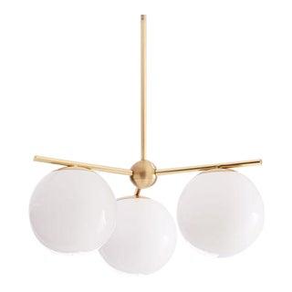 Brass and Glass Ball Pendant Light