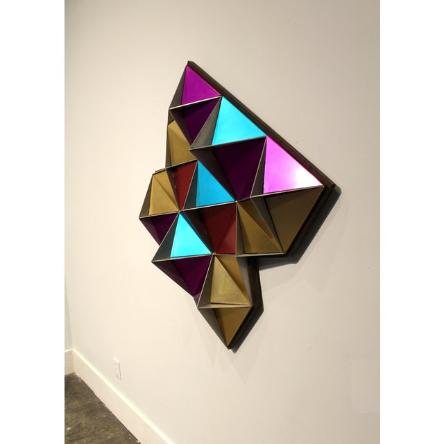 1970's Anodized Aluminum Three Dimensional Geometric Wall Art For Sale - Image 4 of 9