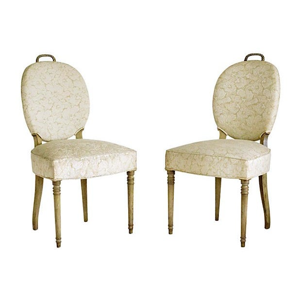 Edwardian Brass Rope Handle Chairs - A Pair - Image 2 of 7