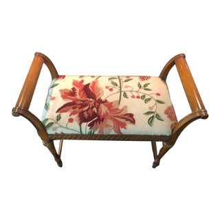 Vintage Mid Century Neoclassic Bench For Sale