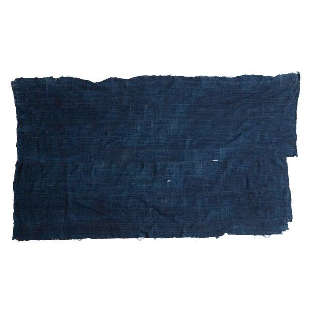 "Dark Blue Denim Indigo Throw - 3'6"" X 5' - Image 1 of 4"