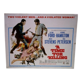 Vintage Movie Poster 'A Time for Killing' For Sale
