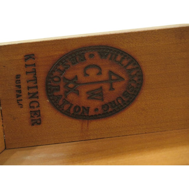 1940s Federal Kittinger Colonial Williamsburg Mahogany Pembroke Table For Sale - Image 12 of 13