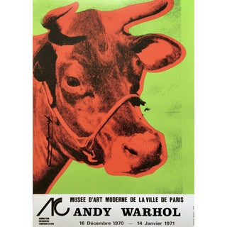 Andy Warhol 'Cow Wallpaper (Green)' 1970 Hand Signed Original Pop Art Poster For Sale