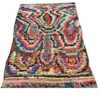 Parton Moroccan Boucherouite Rug - 4′8″ × 7′10″ For Sale