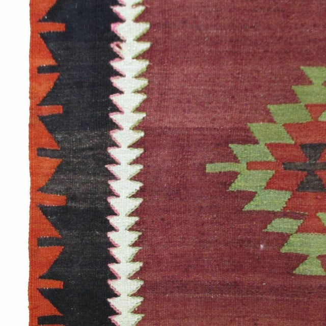 Maroon Vintage Turkish Kilim - 6'' x 10'9'' - Image 4 of 5