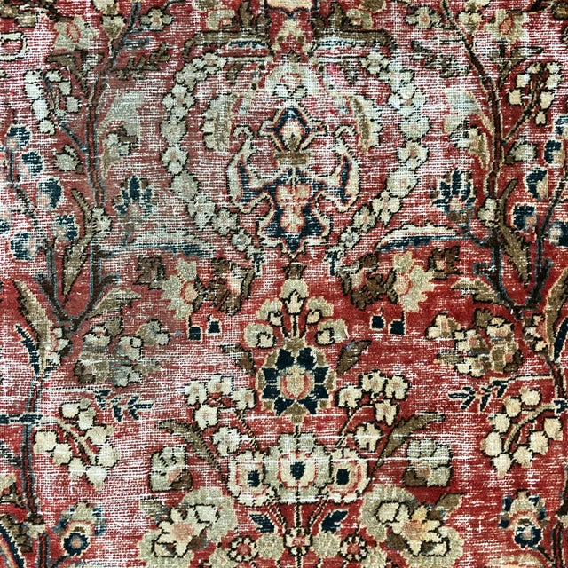 Middle Eastern 1930s Hand Knotted Wool Rug For Sale - Image 9 of 10