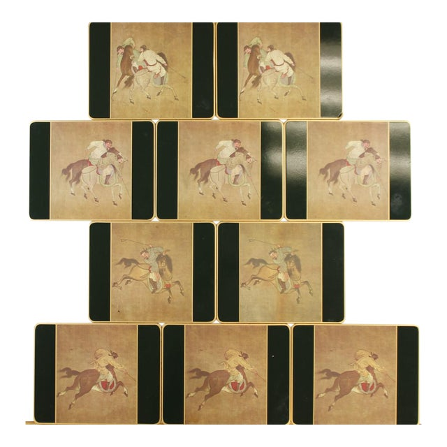 Set of (10) Ming Polo English Scully & Scully Park Ave Plate Mats!~ - Image 1 of 7