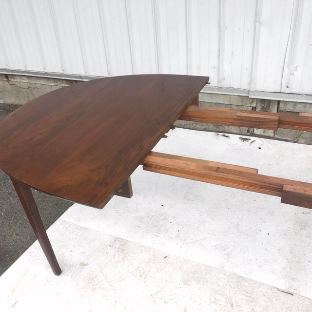 1960s Mid-Century Dining Set With Large Table and Six Chairs For Sale - Image 5 of 13