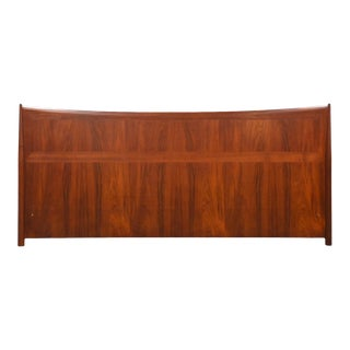 Danish Modern Teak King Headboard Bed For Sale