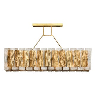 Murano Glass Scavo Chandelier For Sale