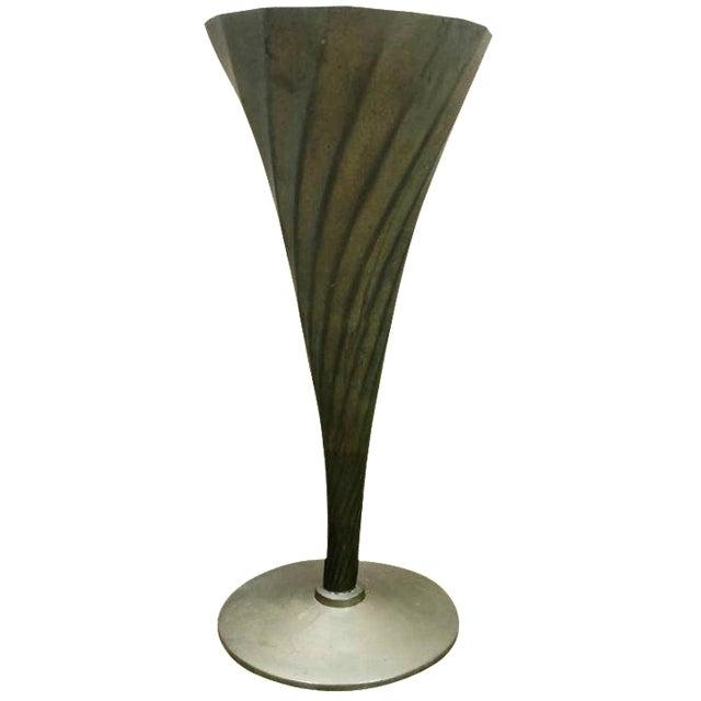 Vintage Brass Fluted Vase - Image 1 of 4