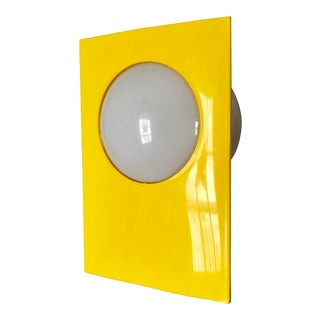 1970's Pop Art Yellow Plastic Wall Light For Sale