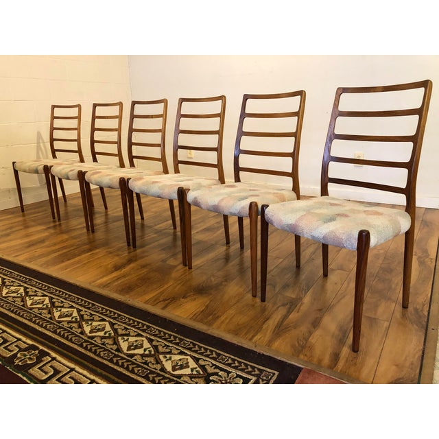 Mid-Century Modern Rosewood Model 82 Dining Chairs by Niels Otto Møller for j.l. Møllers Møbelfabrik - Set of 6 For Sale - Image 3 of 13