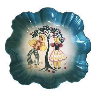 California Pottery Decora Ceramica Large Bowl For Sale