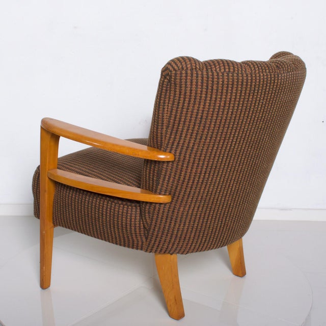 1950s Mid Century Modern Heywood Wakefield Maple Lounge Chair For Sale In San Diego - Image 6 of 12